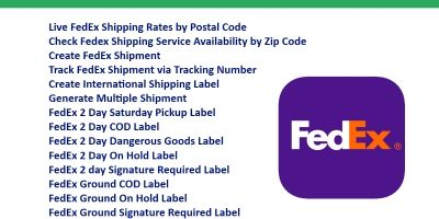FedEx Shipping API integration PHP Script