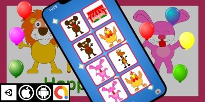 Edukida - Match Happy Animals Unity Kids Game