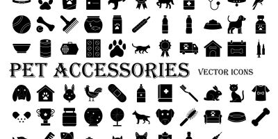 Pet Accessories Icons Pack