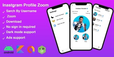 Instagram Profile Zoom - Android Studio Project