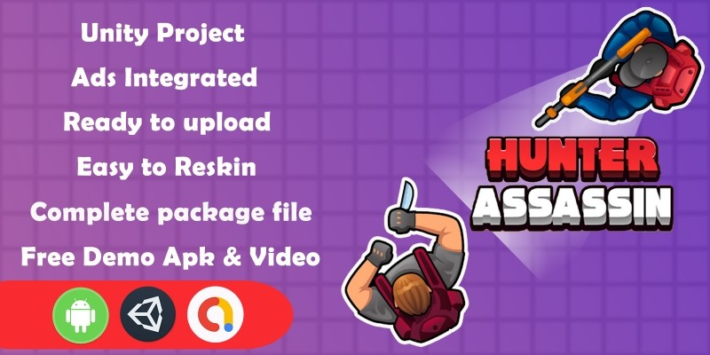 Hunter Assassin Game Unity Source Code