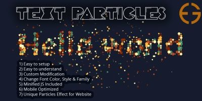 Text to Particles Dissolve Effect JS & CSS