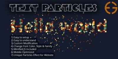 Text to Particles Dissolve Effect JS & CSS