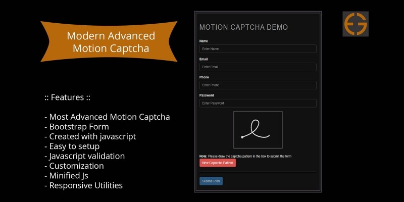 Motion Captcha With Bootstrap Form Validation