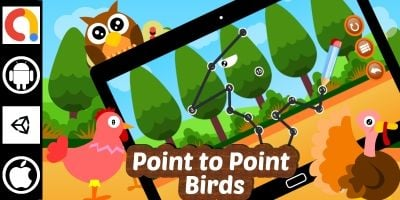 Edukida - Point to Point Birds Unity Kids Game