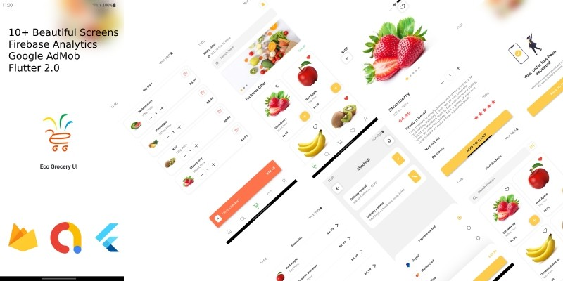 Eco Grocery UI - Flutter App UI Kit
