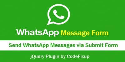 WhatsApp Message Form - Send Form Data to Whatsapp
