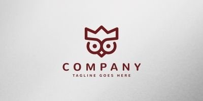 Royal Owl Logo Template