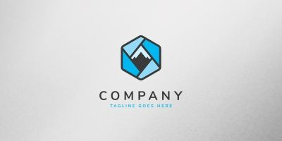 Mountain Box Logo Template