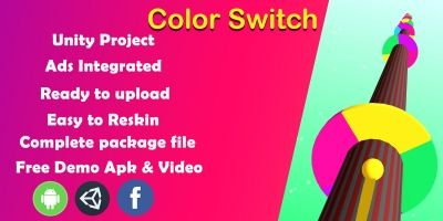 Color Switch Unity Source Code - Complete Project