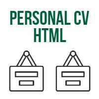 Personal CV Resume HTML Template