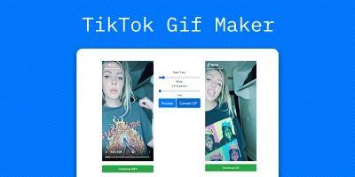 TikTok GIF Maker - PHP Script