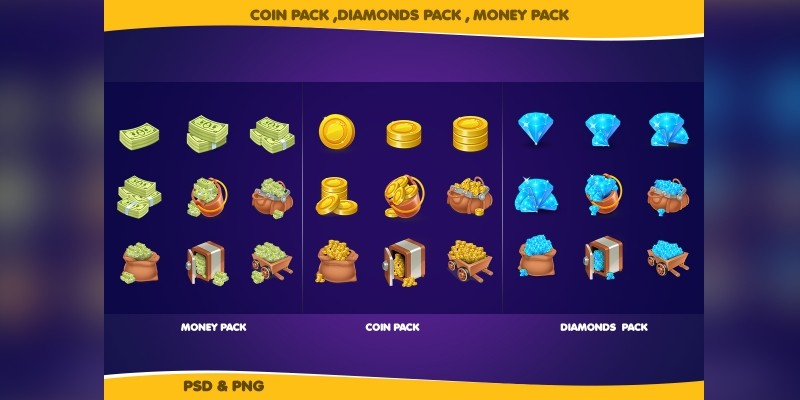 All in One Pack - Coin Gems And Money