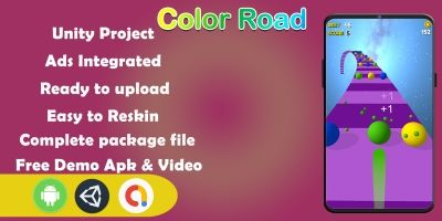 Color Road 3D Unity Source Code - Complete Project