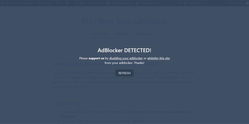 Anti AdBlocker WordPress Plugin