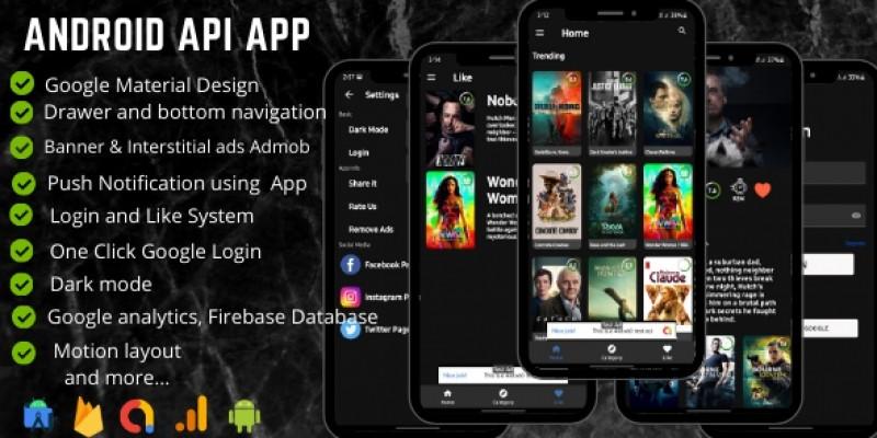 API App Template - Firebase and Analytics
