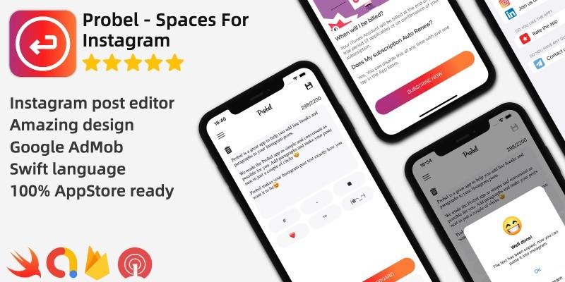 Probel - Line Spaces For Instagram iOS App