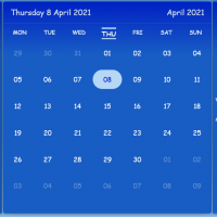 Responsive Calendar For Telework JavaScript