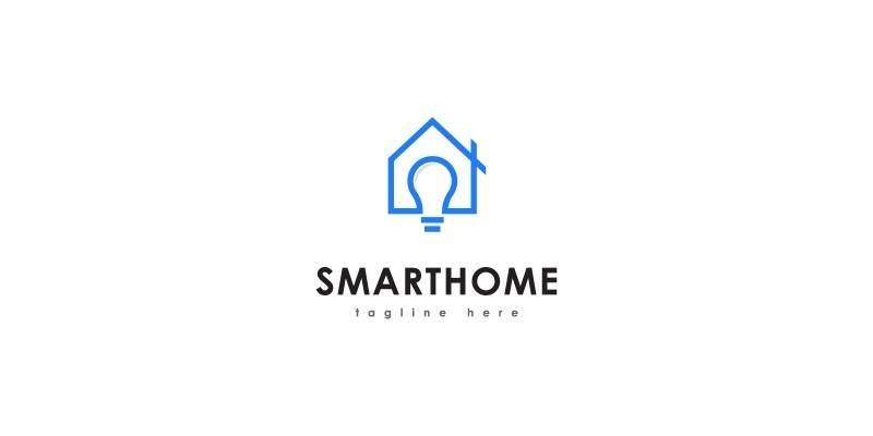 Smart Home Logo Template