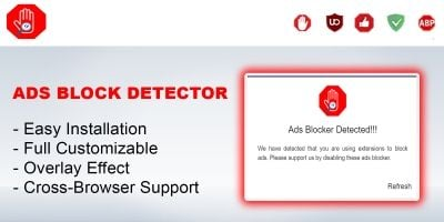 Ads Block Detector WordPress Plugin
