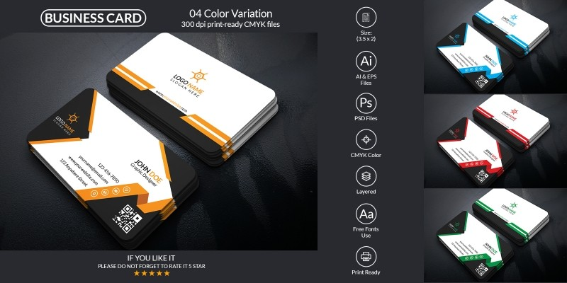 Corporate And Personal Business Card Template