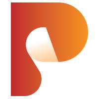 Letter P Paper Print Logo
