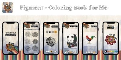 Pigment – Coloring Book For Me iOS With AdMob