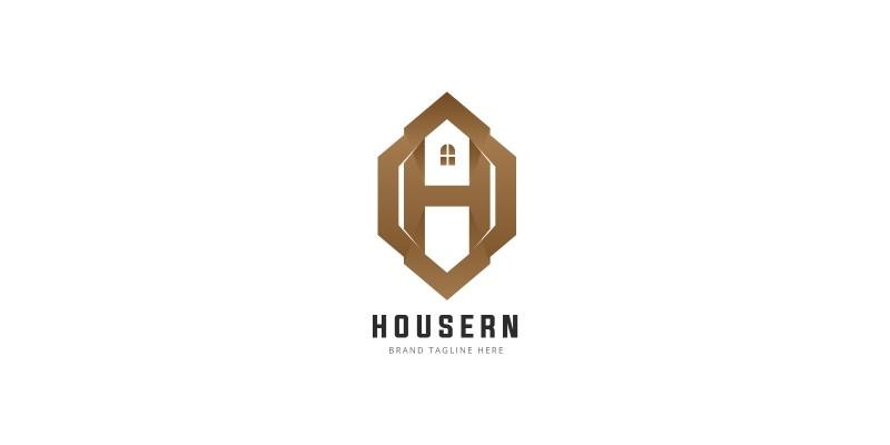 Letter H House Logo
