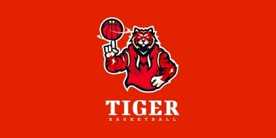 Tiger - Basketball Logo