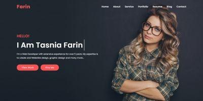 Farin Personal Portfolio Bootstrap 4 Template