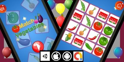 Edukida - Match Vegetables Unity Kids Game