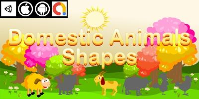 Edukida - Domestic Animals Shapes Unity Kids Game