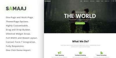 Samaaj - Social Activism WordPress Theme
