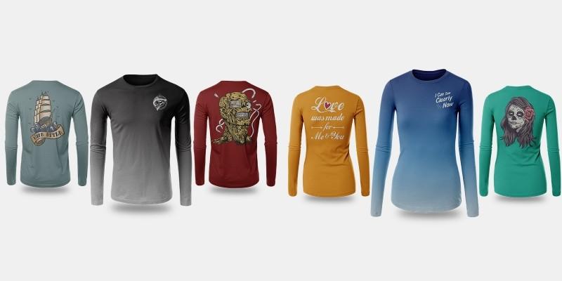 T-Shirt Long Sleeve Mock-Up Vol 3