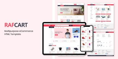 RafCart - Multipurpose eCommerce HTML Template