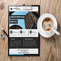 Simple Corporate Business Flyer Design Template