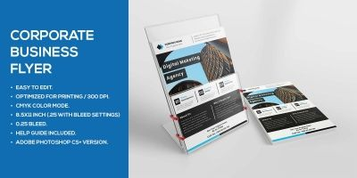 Simple Corporate Business Flyer Design Template