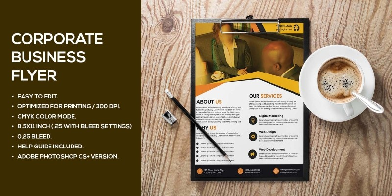 Corporate Agency Business Flyer Design