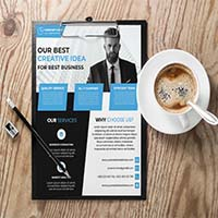 Simplistic Business Flyer Template