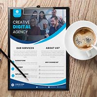 Bluish Creative Corporate Agency Flyer Template