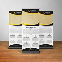 Stunning Business Roll Up Banner Template