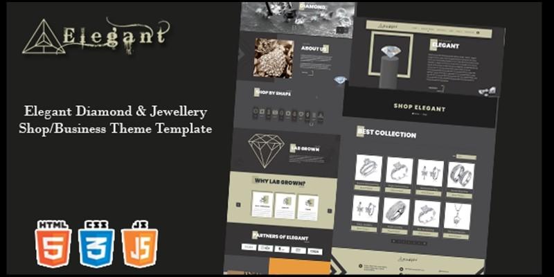 Elegant - Diamond Jewellery Shop HTML Templates