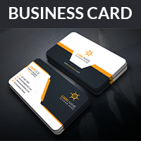 Corporate Business Card With Vector