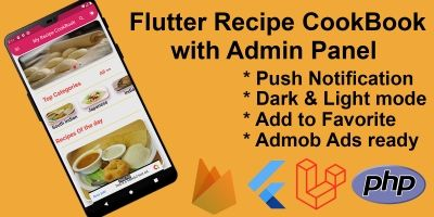 Flutter Recipe App with Admin Panel