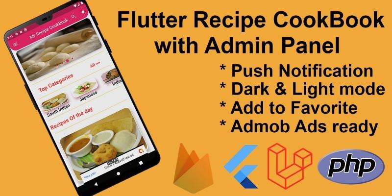 Flutter Recipe App with Admin Panel