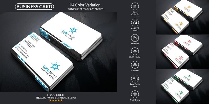 Minimal Business Card Template Design