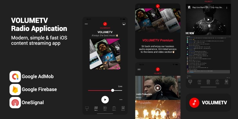 VolumeTV- Live Streaming & Radio Station iOS