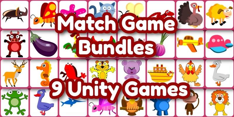 Edukida - Unity Bundle 9 Match Games in 1 Bundle