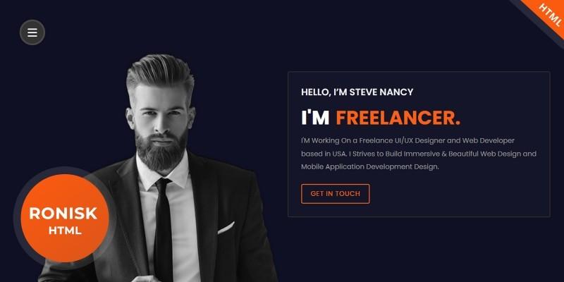 Ronisk - Personal Portfolio HTML Template