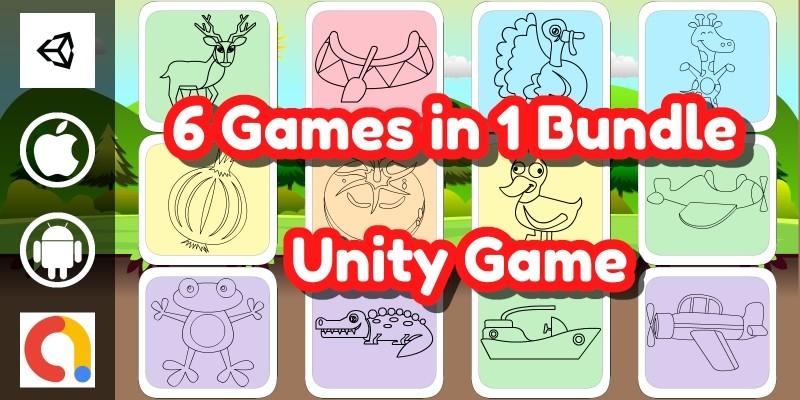 Edukida - 6 Coloring Book Unity Games in 1 Bundle